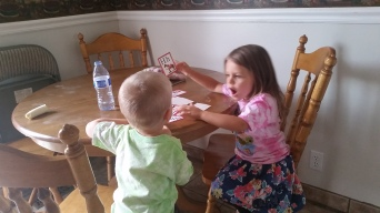 helping her brother