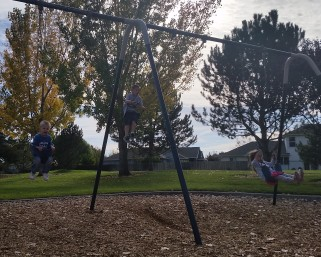 playing at park